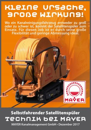 Anzeige: Mayer Technik - Kanalreinigung
